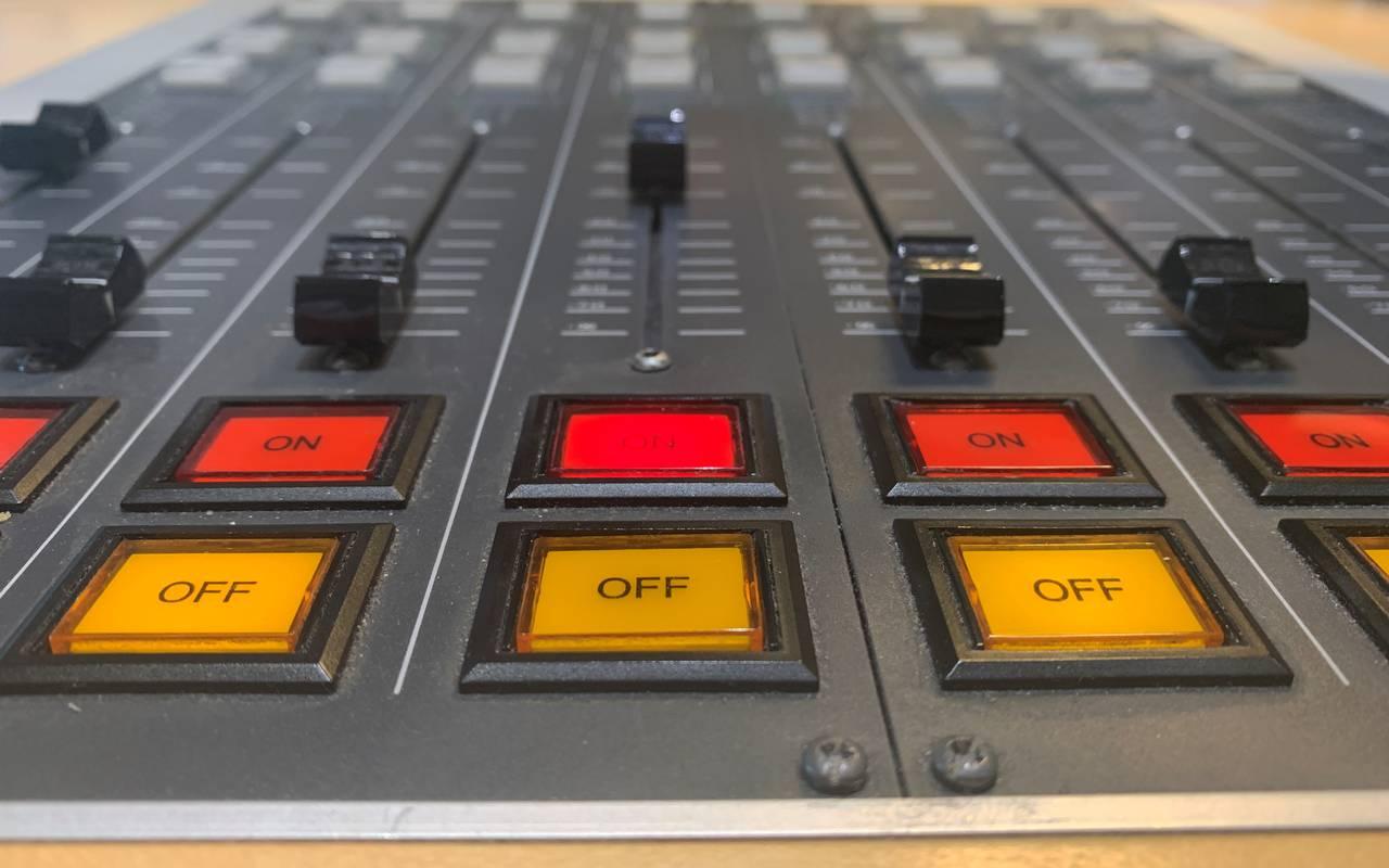 Das Mischpult im Radio-Studio